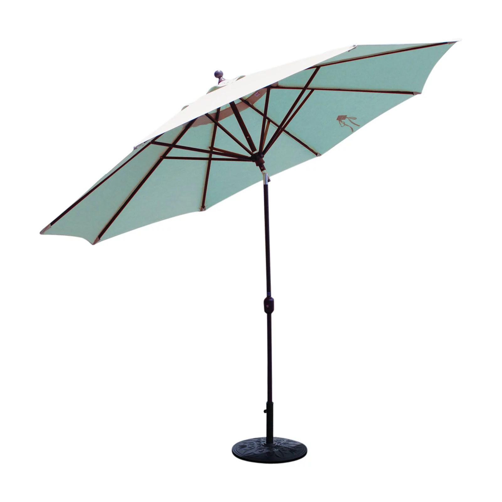 galtech sunbrella 11 ft maximum shade deluxe aluminum auto tilt patio umbrella