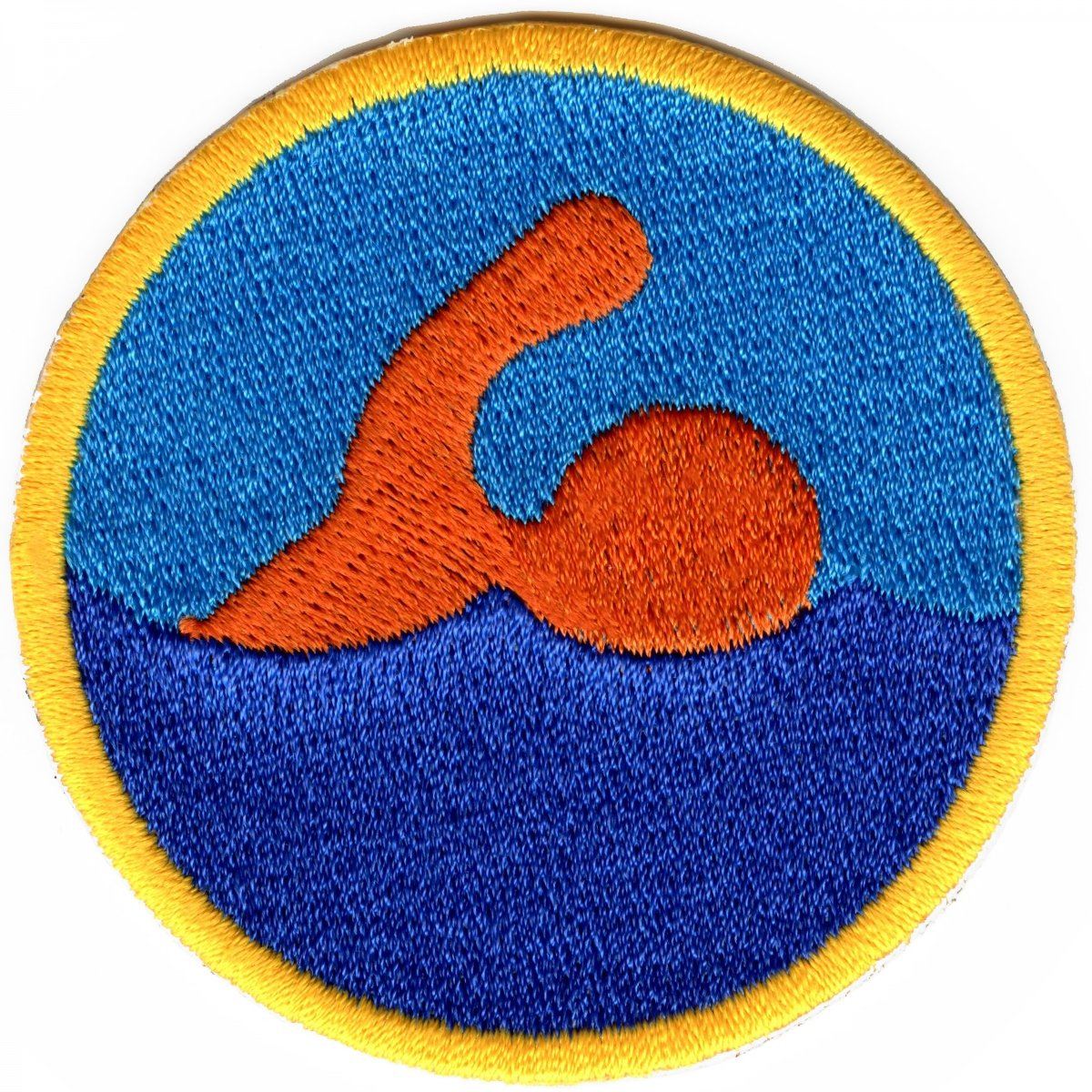Swimming Merit Badge Embroidered Iron On Patch