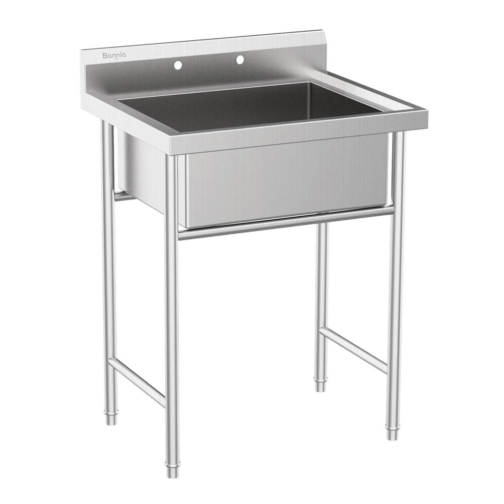 single bowl utility sink with legs for