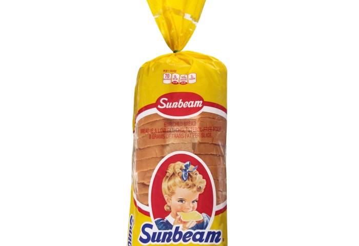 Sunbeam Split Top Enriched White Bread 20 Oz Loaf Walmartcom