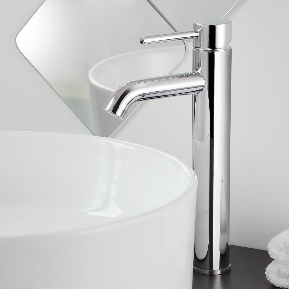 tall single handle bathroom vessel sink