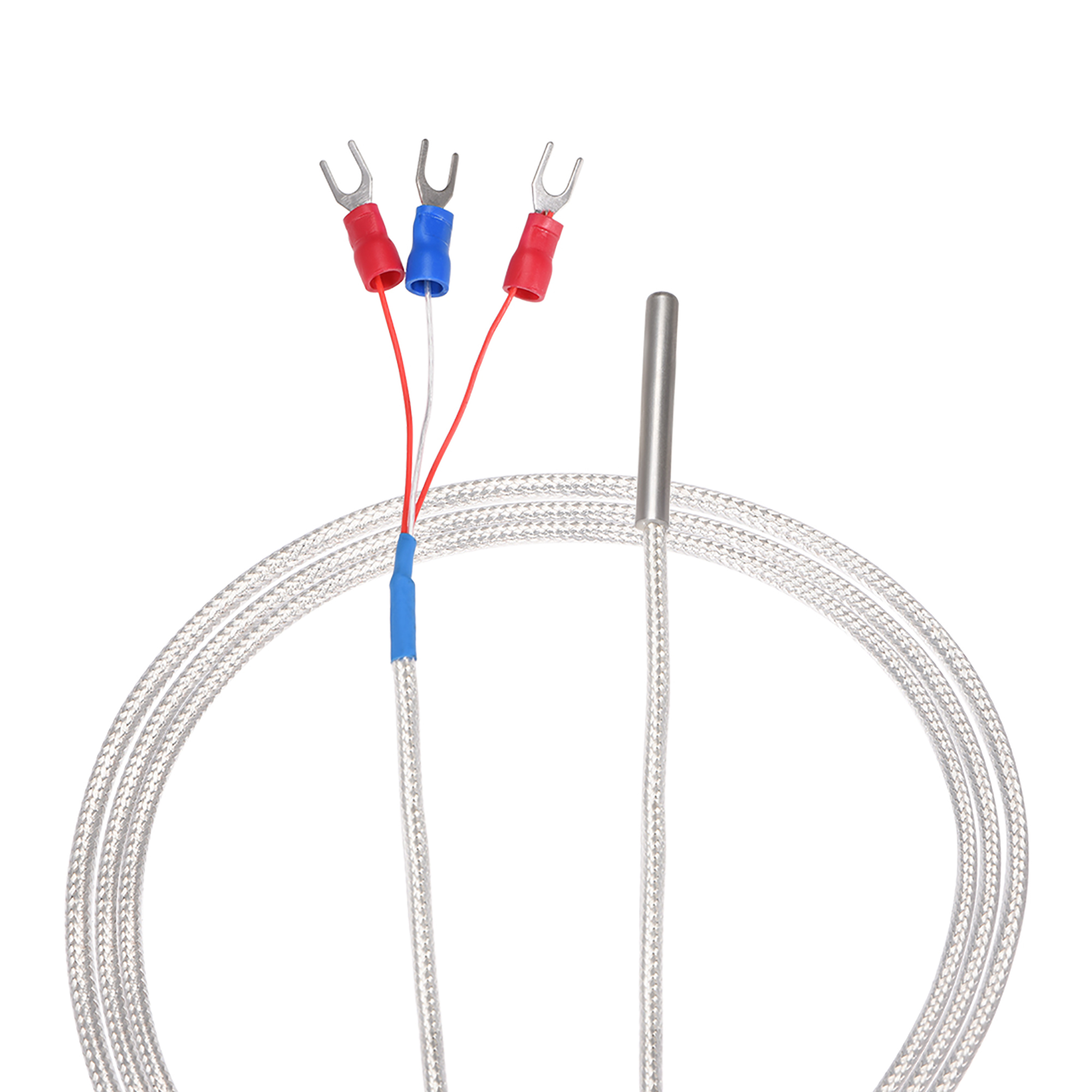 Pt100 Rtd Temperature Sensor Probe 3 Wire Cable