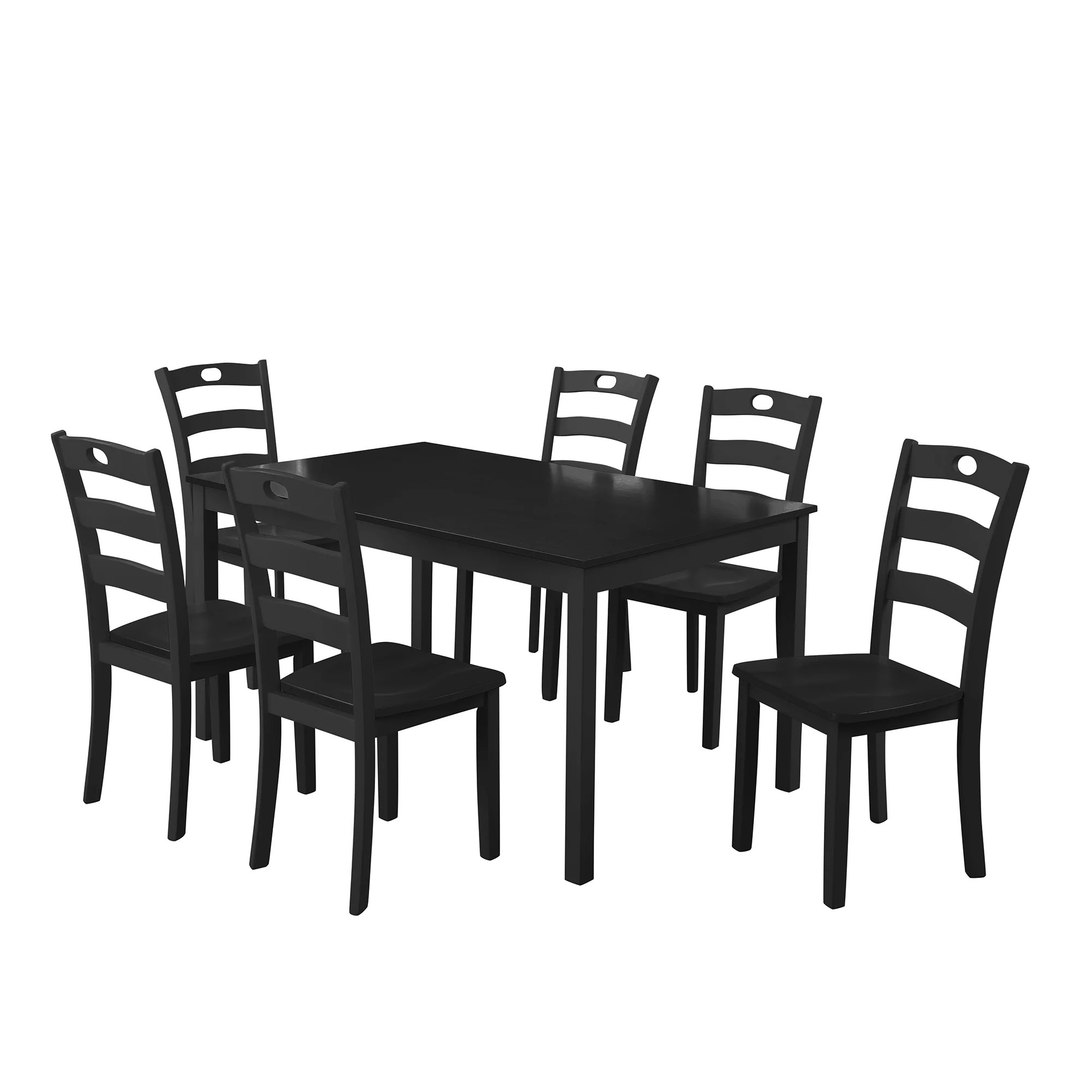 clearance dining table set with 6 chairs 7 piece wooden on dining room sets on clearance id=58661