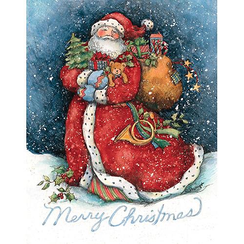 Lang Merry Santa Boxed Christmas Cards
