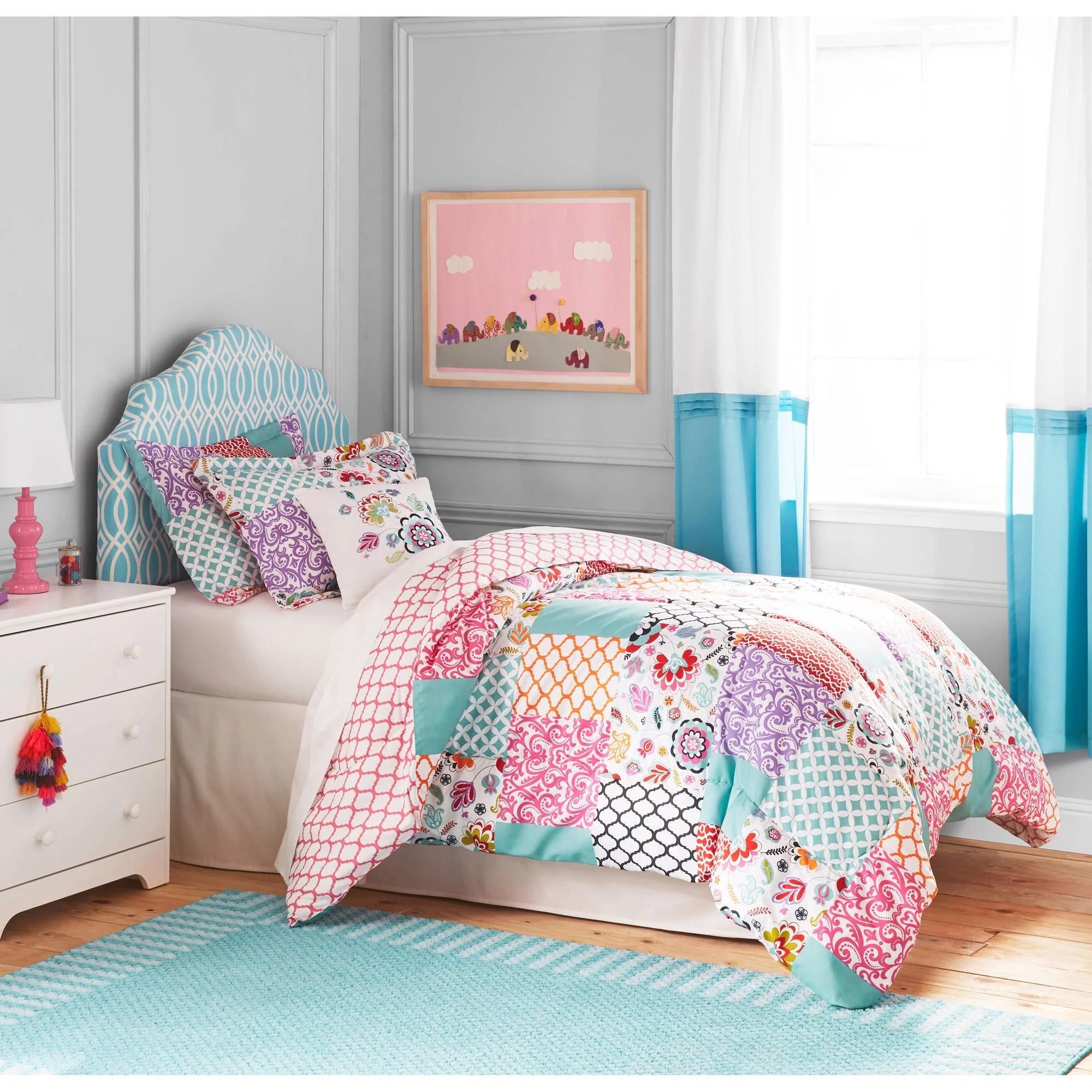 Kids/Teens Floral Patchwork 4-piece Bedding Comforter Set ... on Teenage Bed  id=54510