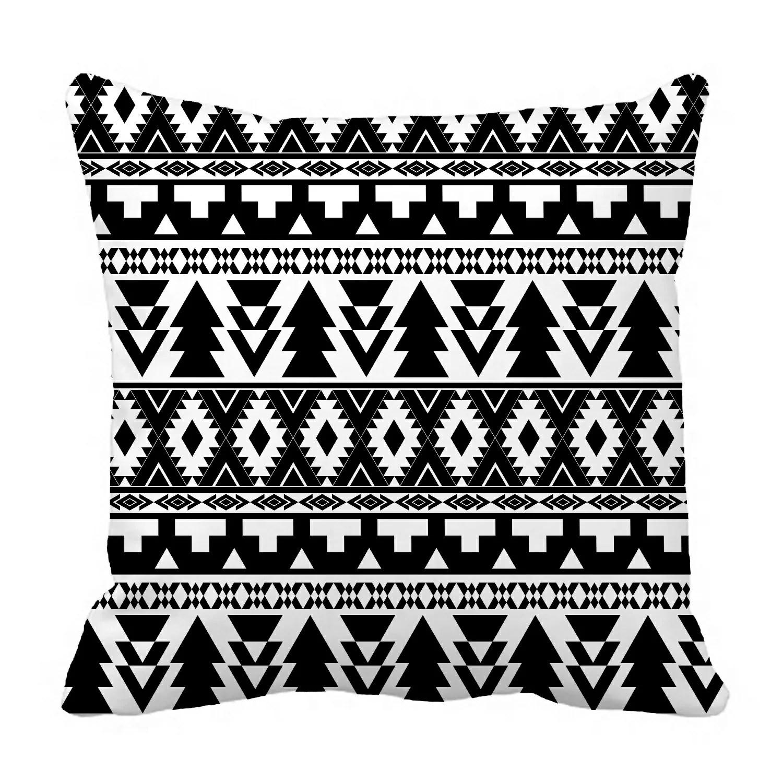 eczjnt black white boho hippy pillow case pillow cover cushion cover 20x20 inch
