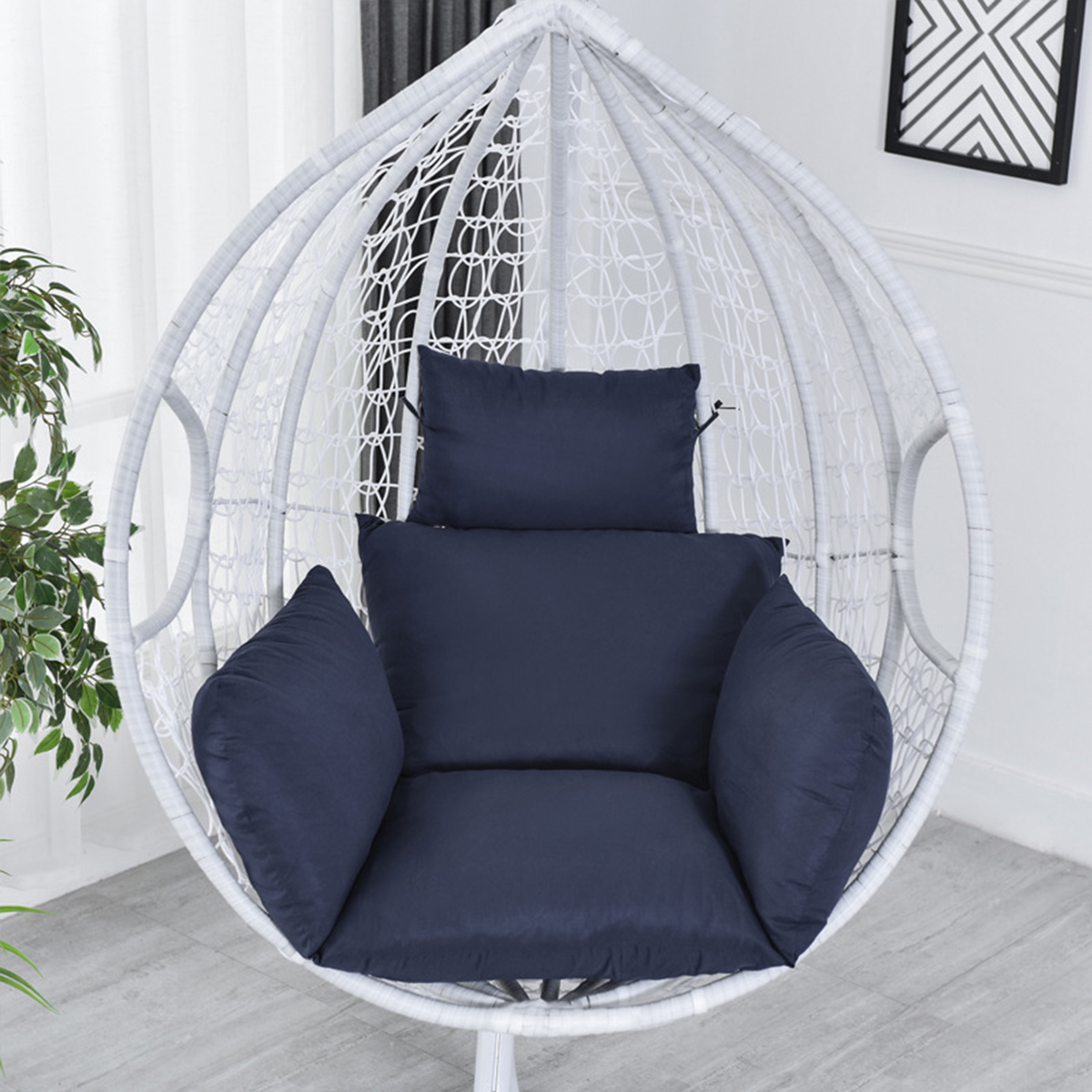 hammock chair cushions egg chair soft pad cushion with headrest for hanging chair swing seat home garden