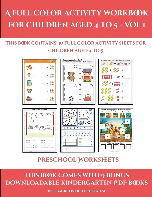 Preschool Worksheets Preschool Worksheets A Full Color