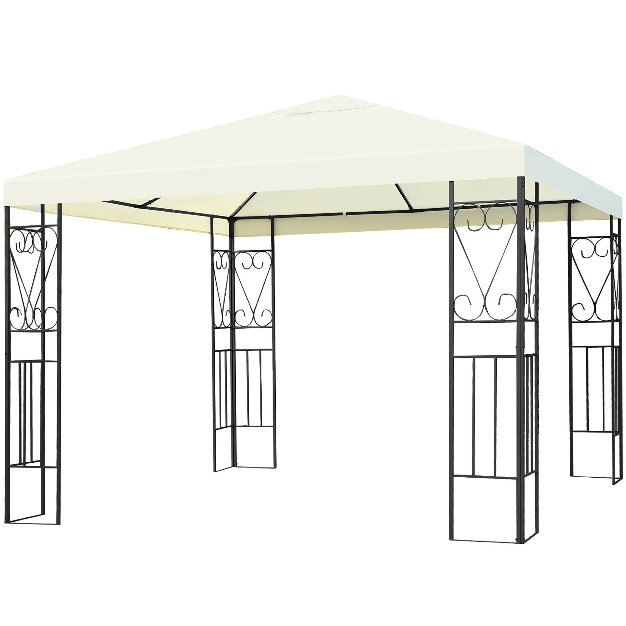 costway 10 x10 patio gazebo canopy tent steel frame shelter patio party awning