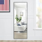 Full Length Mirror Decor Wall Mounted Mirror Floor Mirror Dressing Mirror Make Up Mirror For Bathroom Bedroom Living Room Dining Room Entry Black 59 X 16 Walmart Com Walmart Com