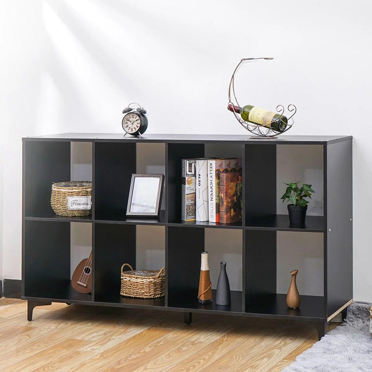 insma cube storage organizer with metal base bookshleves and bookcase bookshelf tv stand shelf black