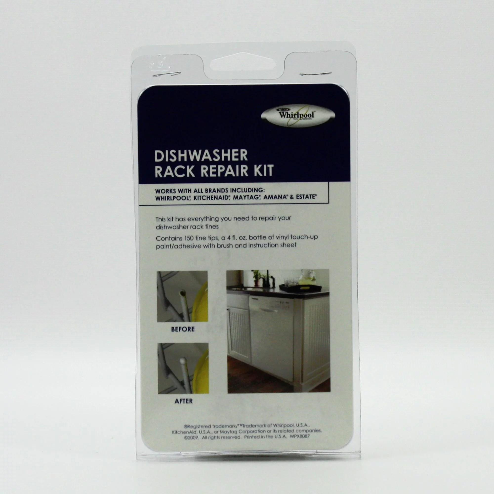 4396838rc for whirlpool dishwasher tine tip rack repair kit walmart com