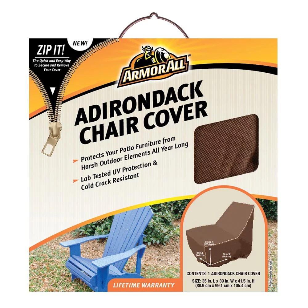 armor all adirondack chair cover patio durable elastic loop handle ventilated double stitched buckle closure zippered uv resistant crack