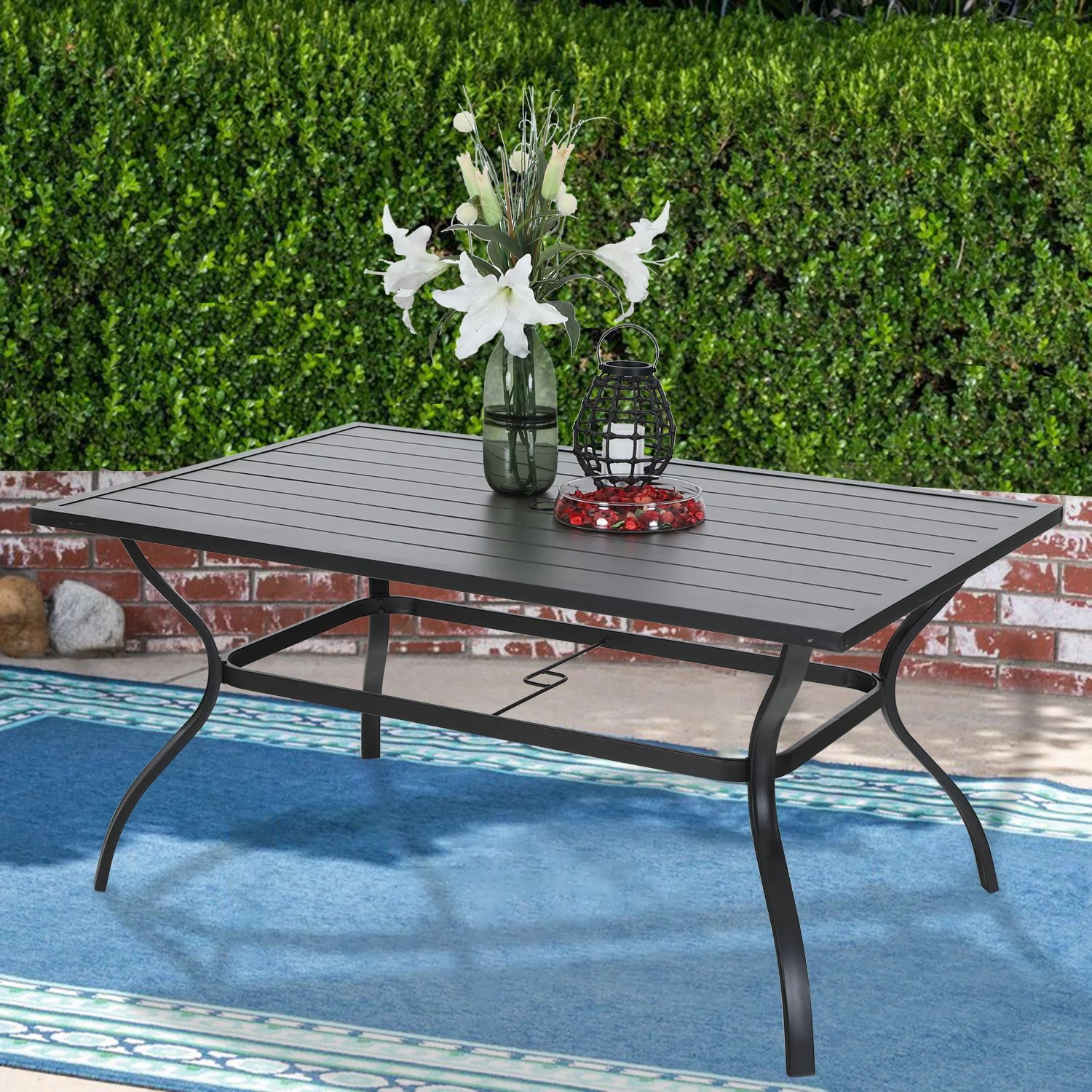 fiesta outdoor wicker rectangular dining table table only multibrown