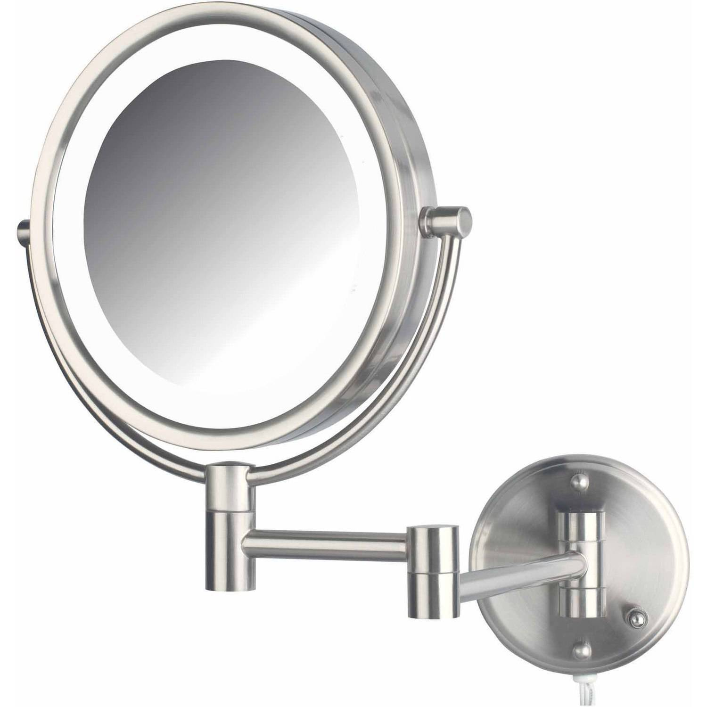 Jerdon Hl88nl 8 5 Led Lighted Wall Mount Makeup Mirror With 8x Magnification Nickel Finish Walmart Com Walmart Com