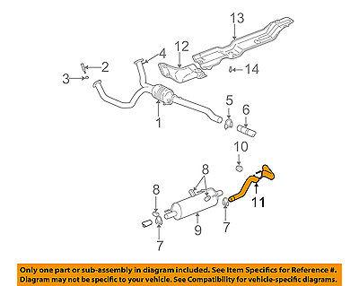 dodge chrysler oem 02 05 ram 1500 3 7l v6 exhaust system tail pipe 52103471ag