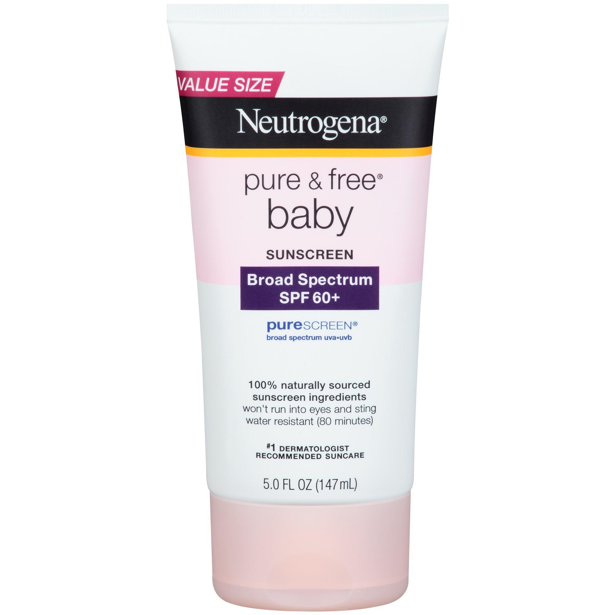 Neutrogena Pure & Free Baby Sunscreen SPF 60, 5 Fl Oz