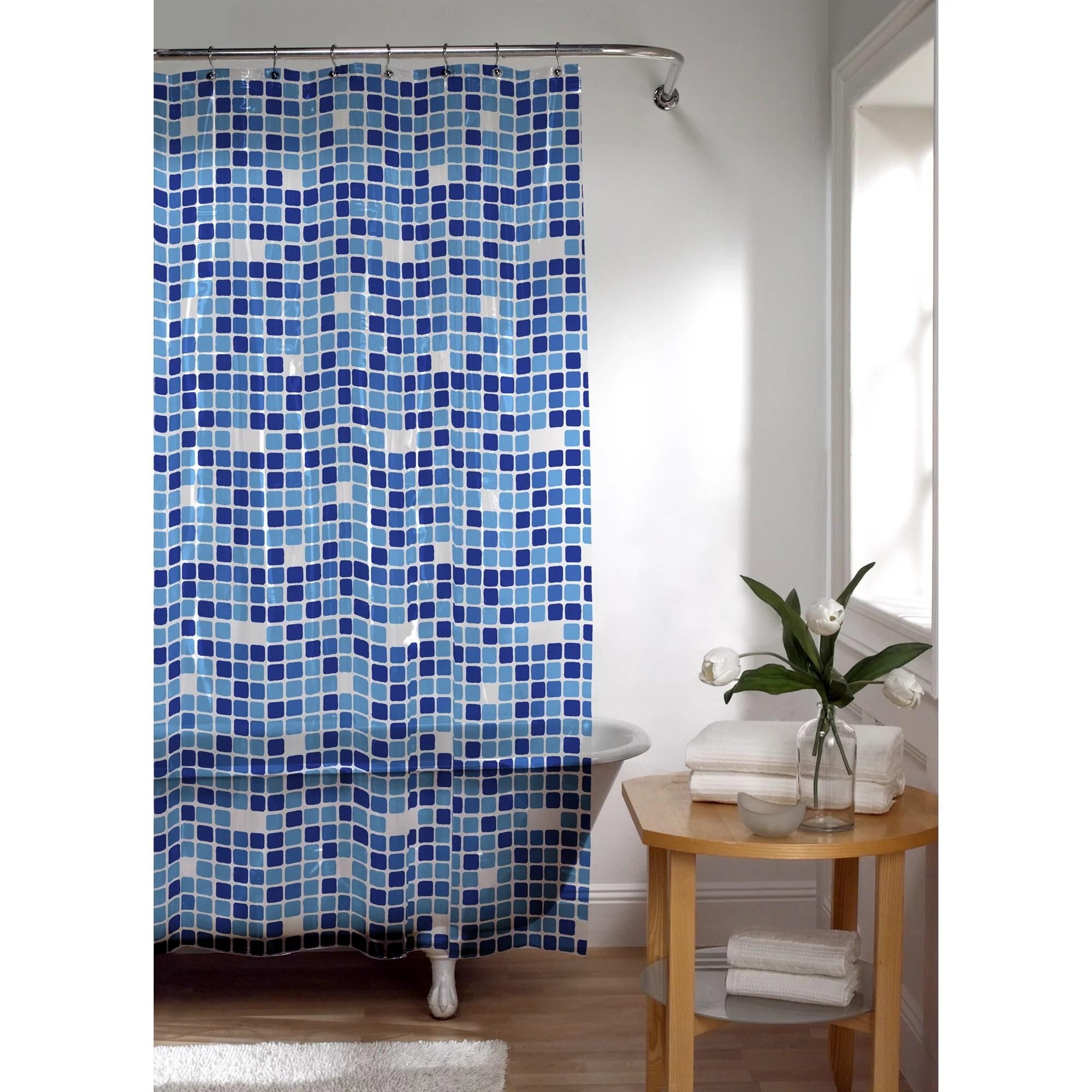zenna home tiles peva vinyl shower curtain