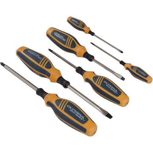 Olympia Tools 6pc Gold Series Screwdriver Set, 22-905