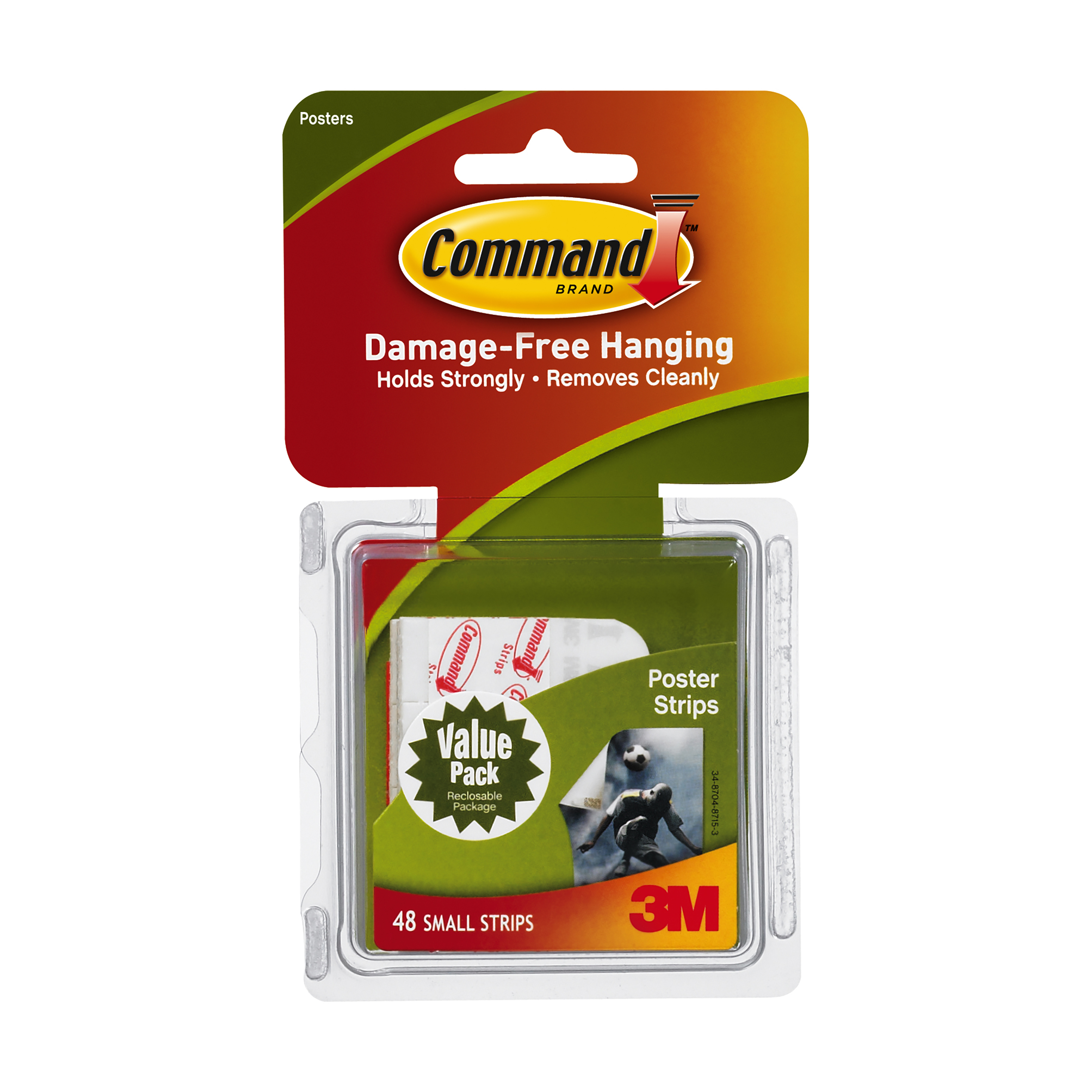 3m command poster hanging strips small 48 pkg