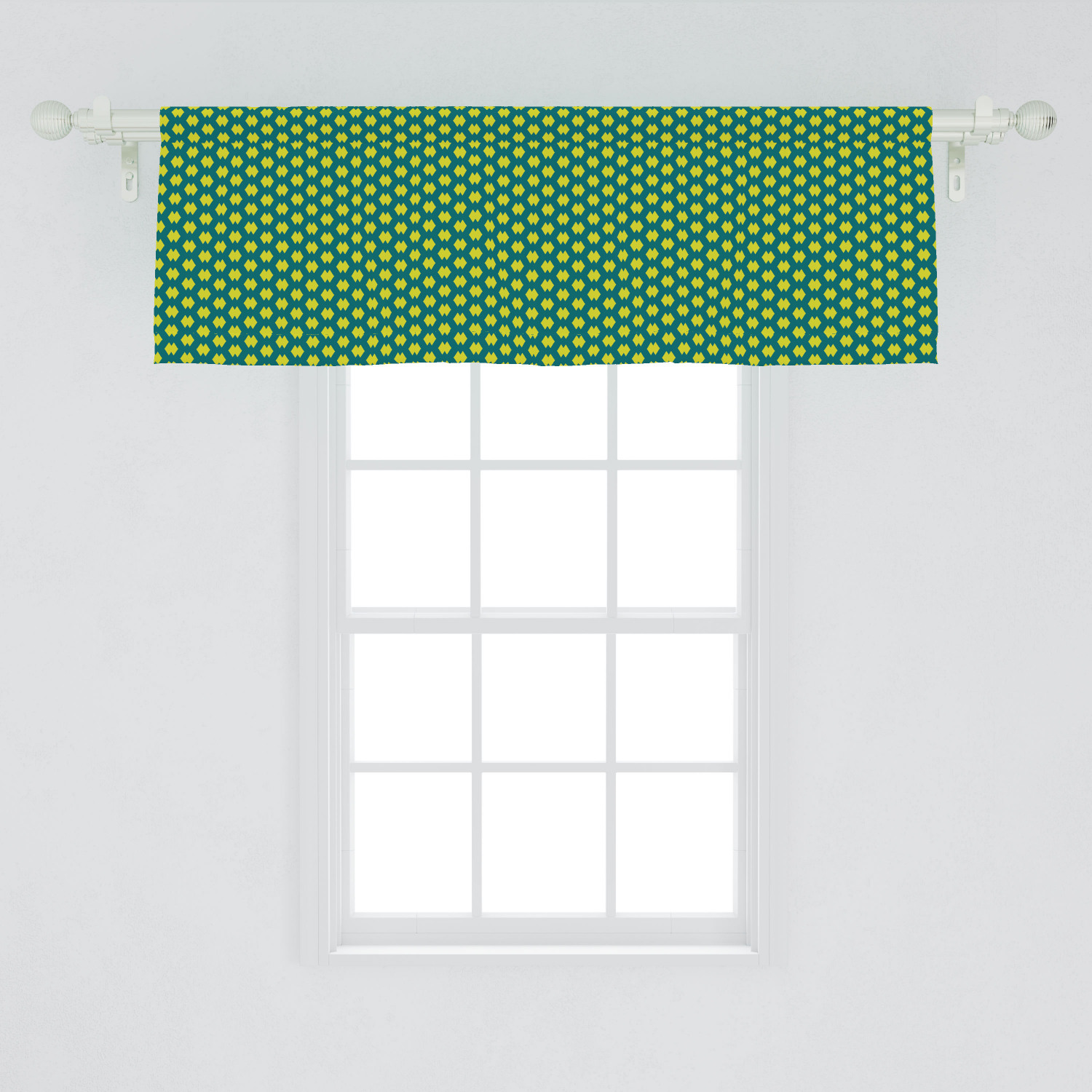Abstract Window Valance Basic Repetitive Geometric Shapes