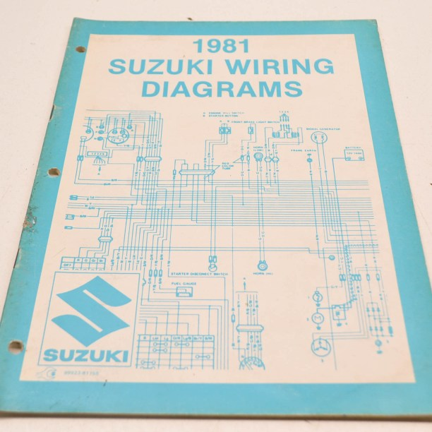 oem suzuki 9992381755 81 x model wiring diagram manual
