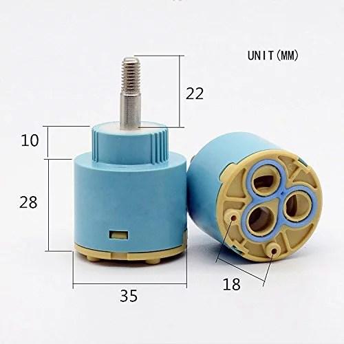 replacement single handle faucet cartridge ceramic disc valve 35mm diameter for single handle kichen bathroom shower faucet by wovier