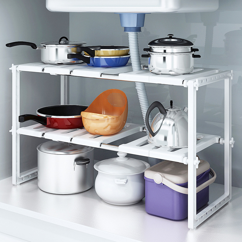 expandable adjustable under sink shelf storage shelves for kitchen bathroom kitchen shelf multifunctional storage rack