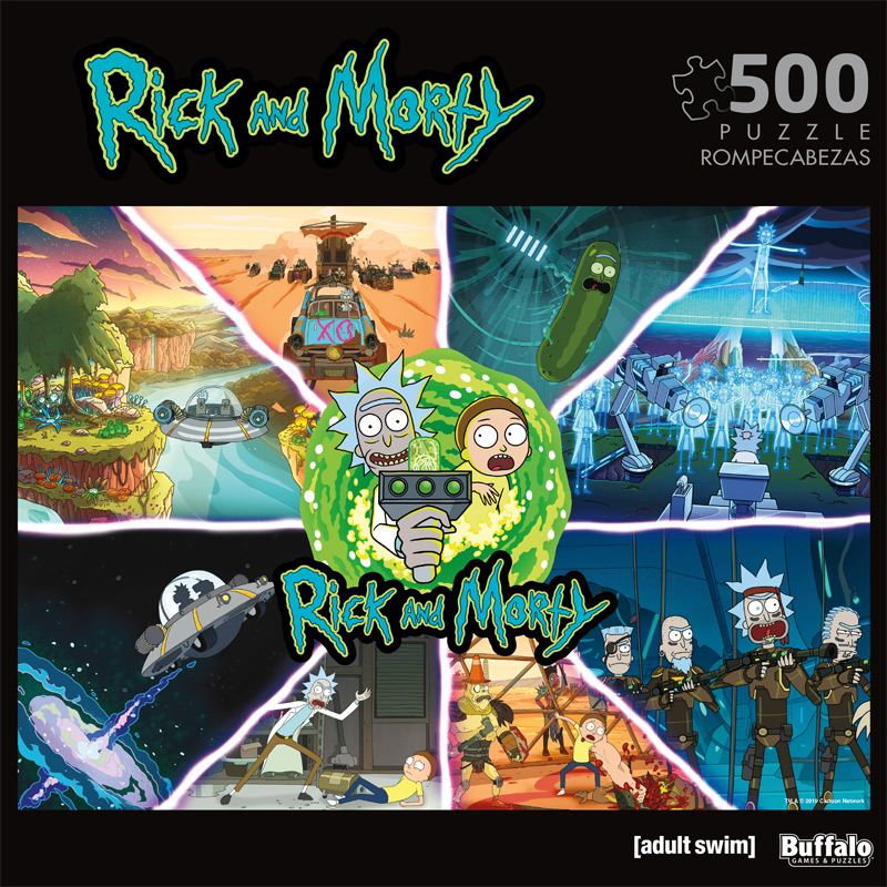 buffalo games rick morty get schwifty 500 pieces jigsaw puzzle