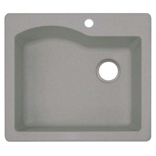 swan granite 25 x 22 drop in kitchen sink