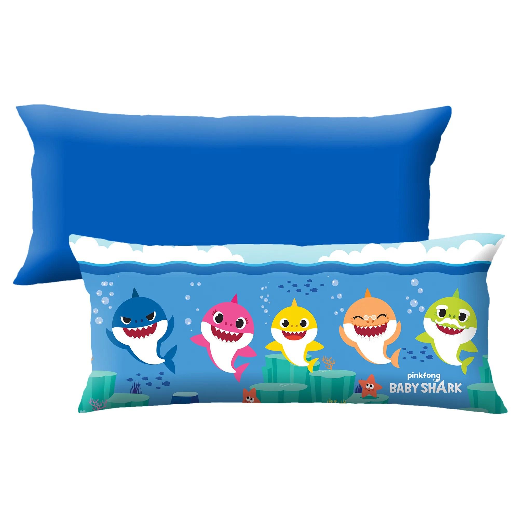 baby shark extra large body pillow soft plush microfiber 4 feet long