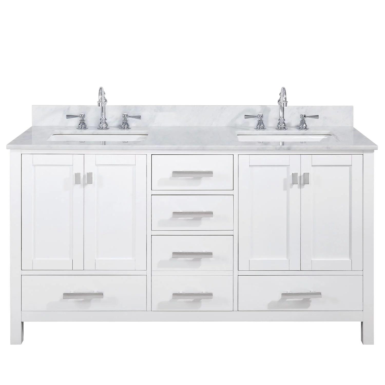 design element valentino 60 double sink vanity in white