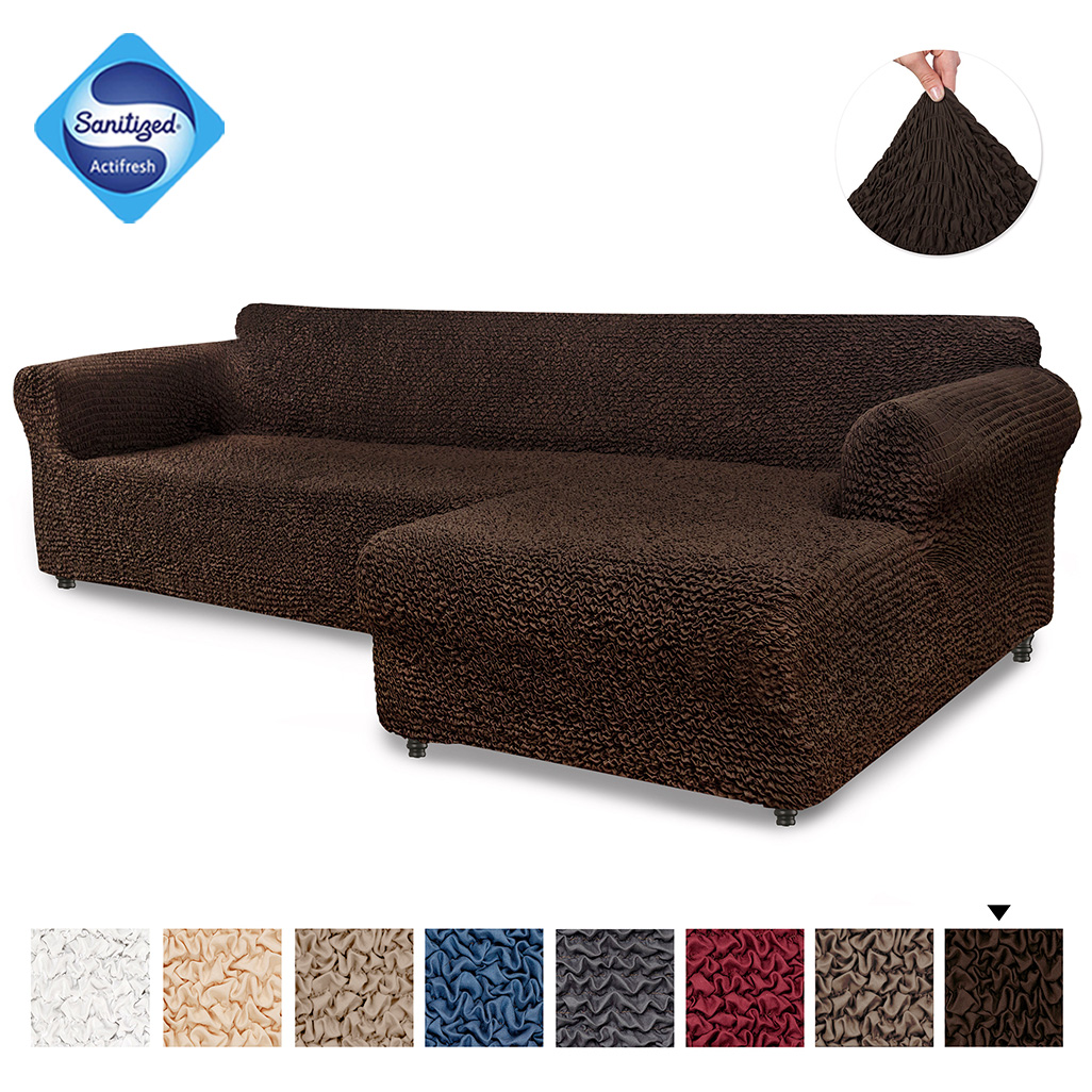 paulato by ga i co sectional l shape couch cover microfibra collection right chase dark brown