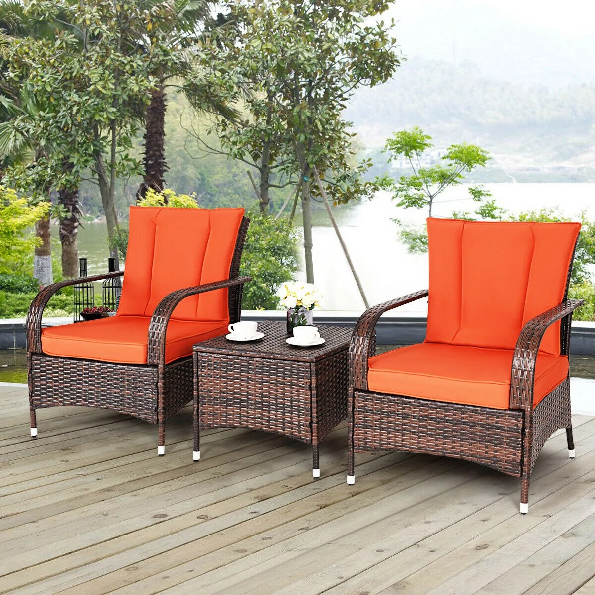 Read reviews and buy the best patio furniture sets from top companies including better homes and gardens, walker edison, belvedere and more. Costway 3 PCS Patio Rattan Furniture Set Coffee Table & 2 ...
