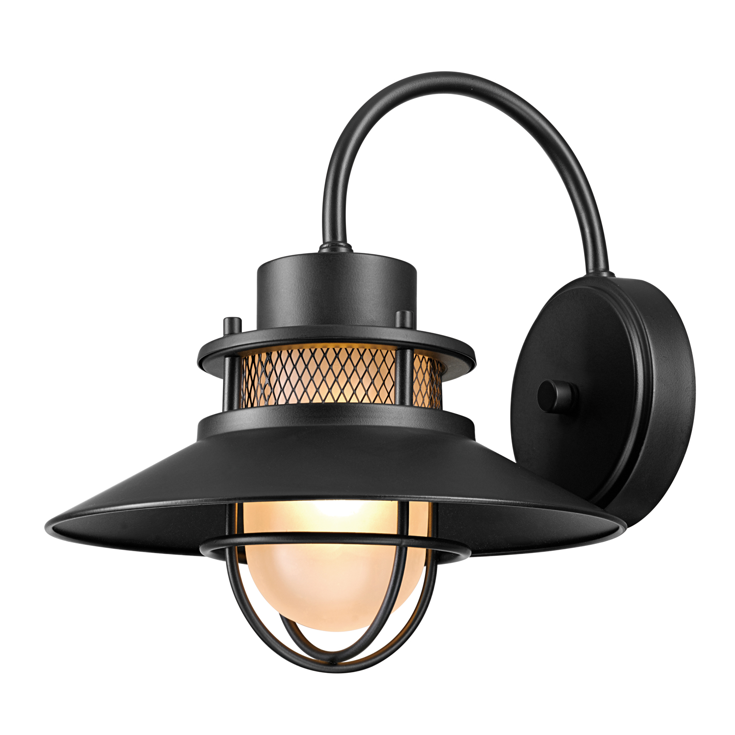 Globe Electric Liam 1-Light Matte Black Outdoor Indoor ... on Electric Wall Sconces Indoor id=12397