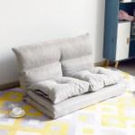 Folding Floor Sofa Futon Chaise Lounge Sofa Gaming Chair Floor Couch Adjustable Floor Sofa And Couch Foldable Sleeper Sofa Bed Lazy Sofa Couch Bedroom Living Room Furniture Gray W6172 Walmart Com
