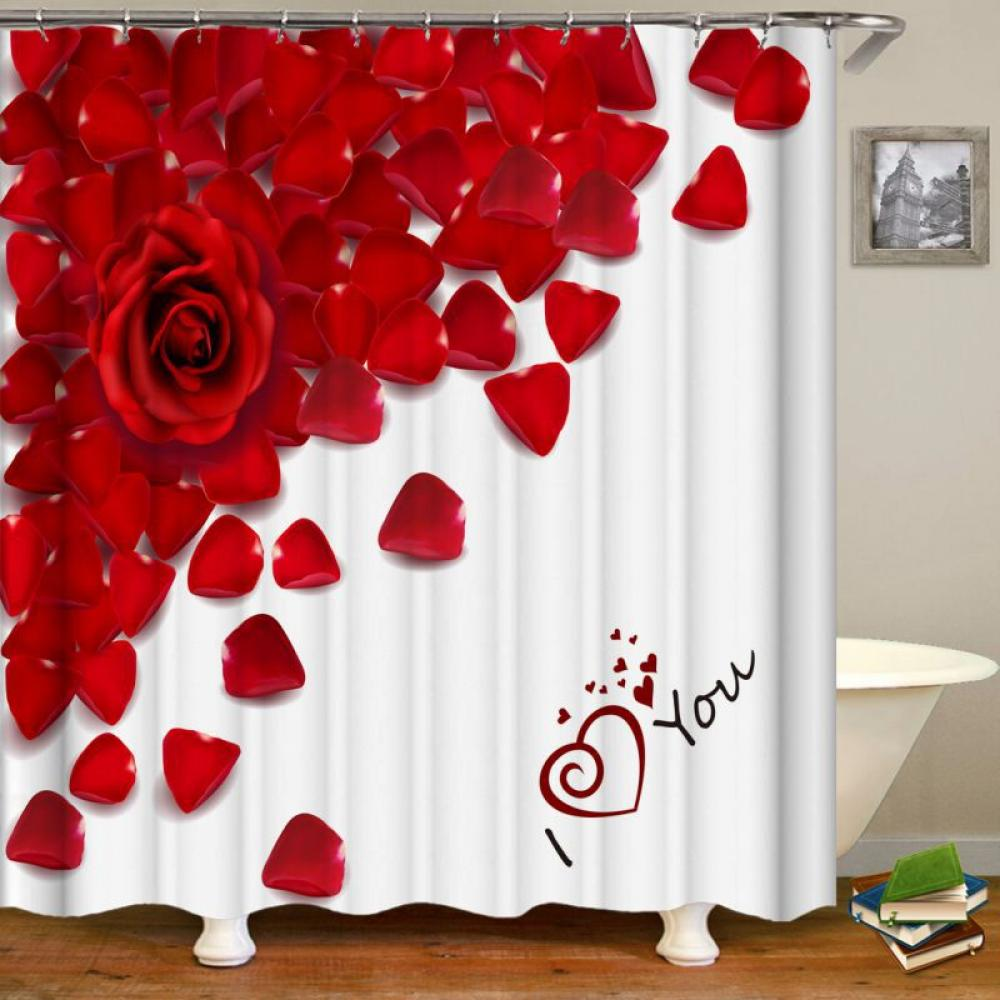 surprise gift 3d digital valentine s day shower curtain