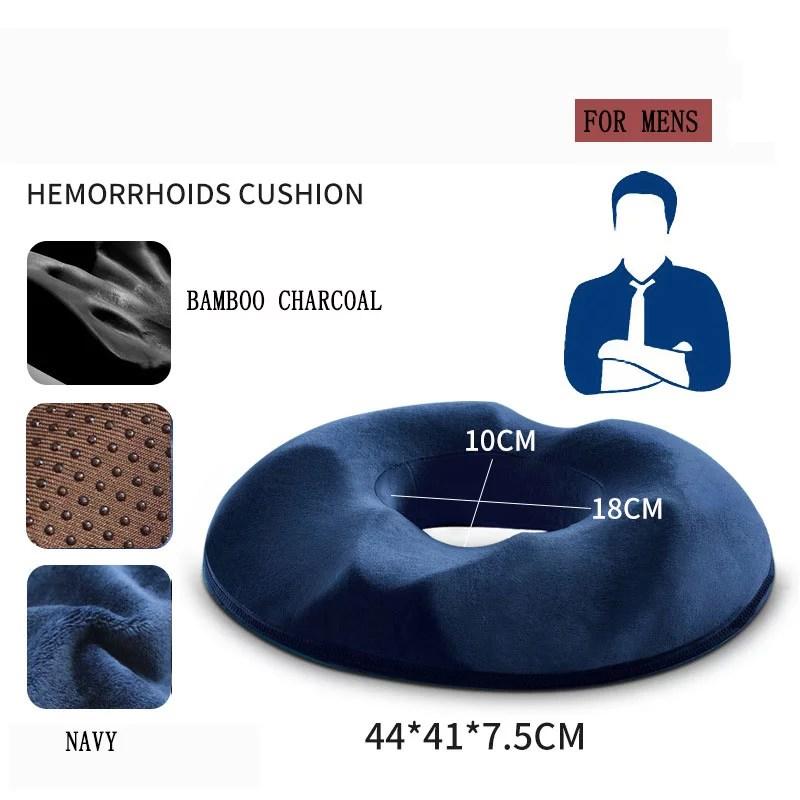 donut pillow orthopedic bamboo memory foam donut seat cushion hemorrhoid cushion for hemorrhoids treatment tailbone coccyx sciatica pregnancy