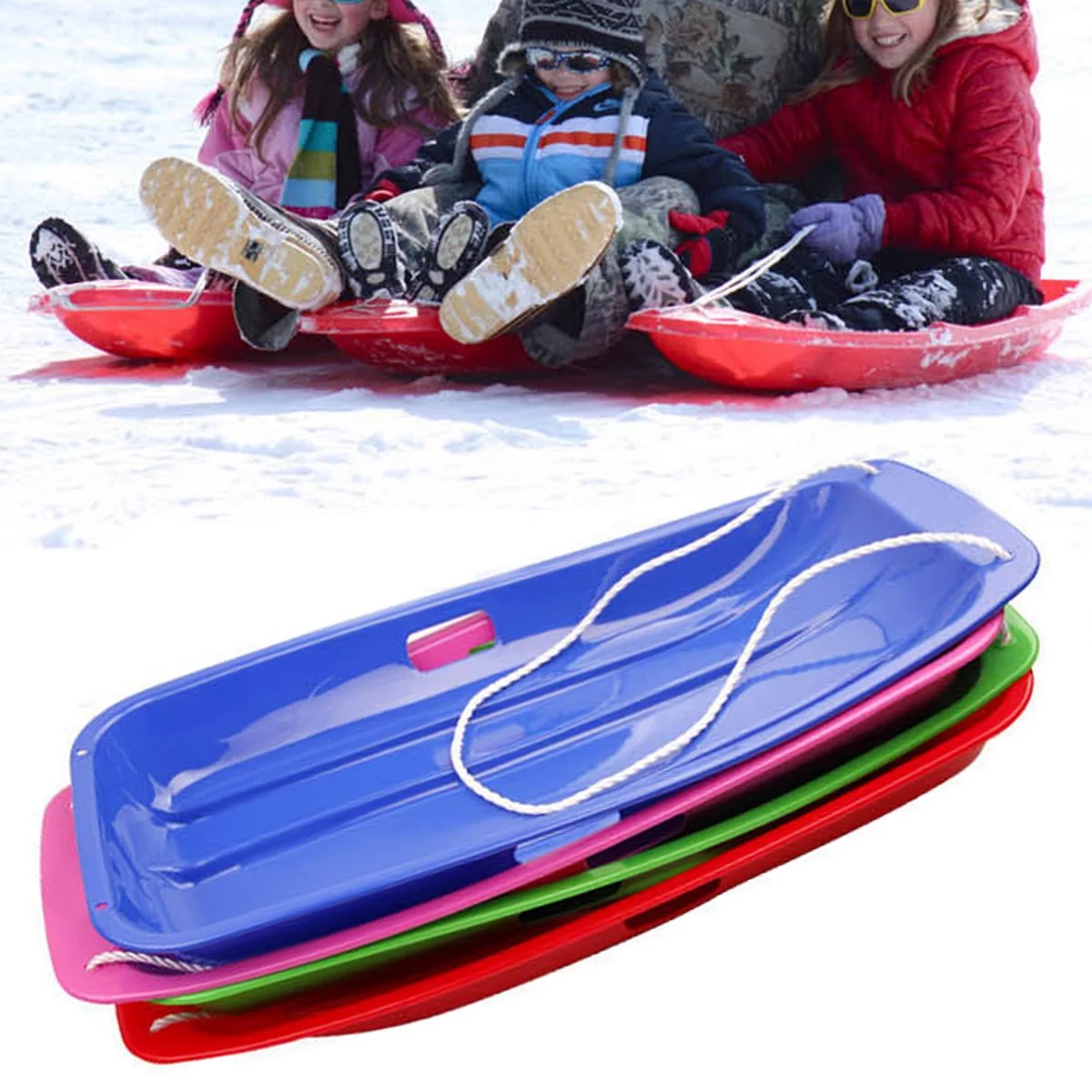 snow sled boat board sledge skiing toboggan plastic for kid children christmas gifts