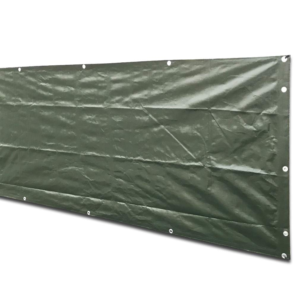 alion home dark green heavy duty waterproof wind block privacy screen tarp for backyard deck patio balcony fence porch window pergola 100