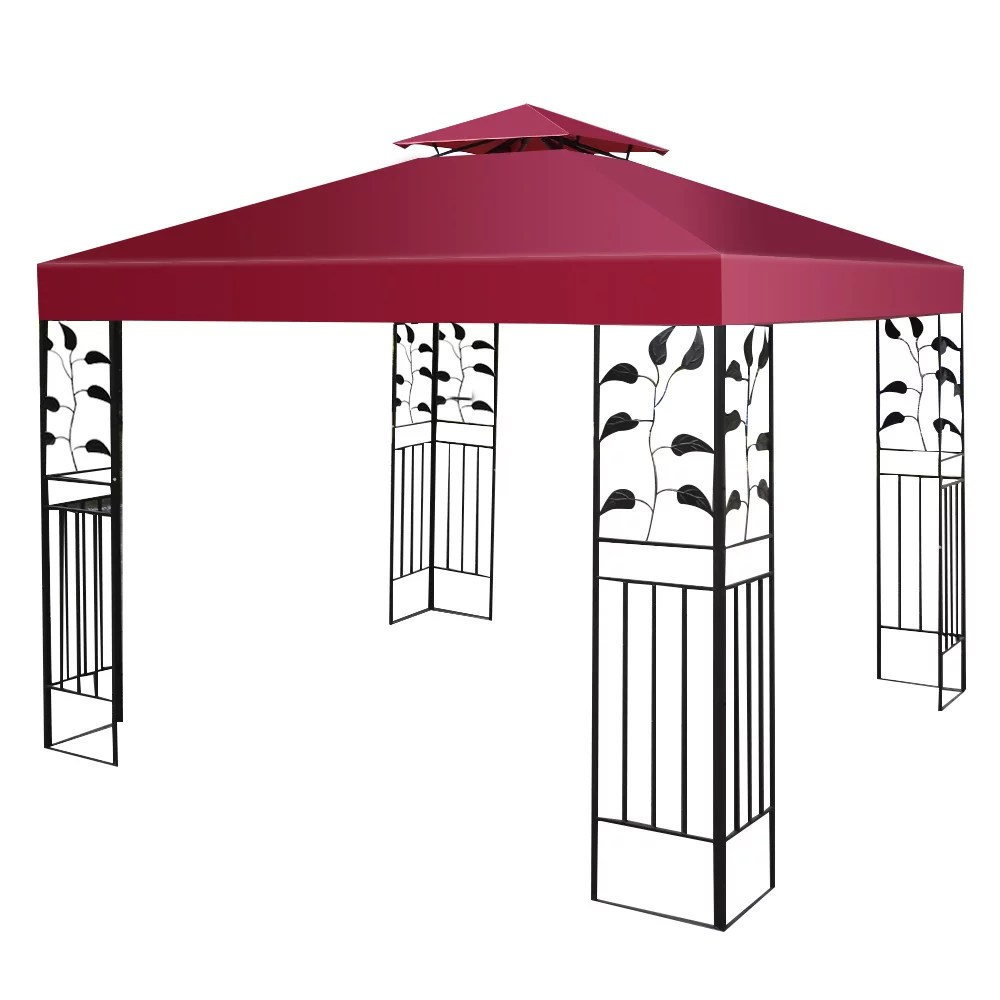 costway 9 8 x 9 8 gazebo top cover patio canopy replacement 2 tier 3 color