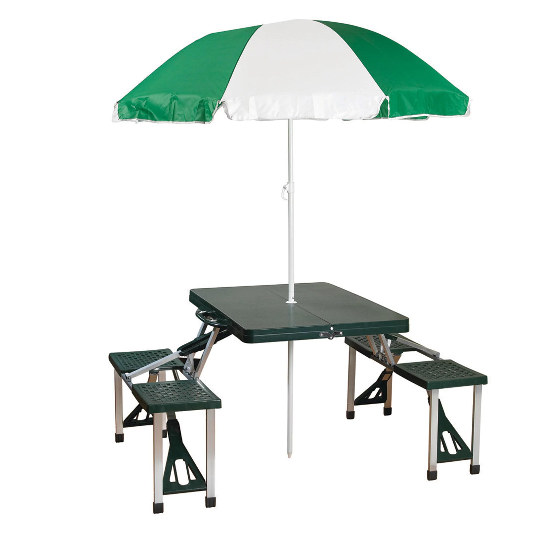 stansport folding picnic table with umbrella aluminum frame multiple colors rectangular walmart com