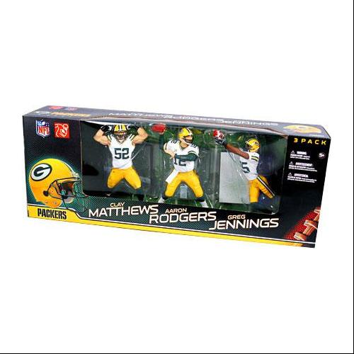 Green Bay Packers Championship Action Figure 3-Pack White ...