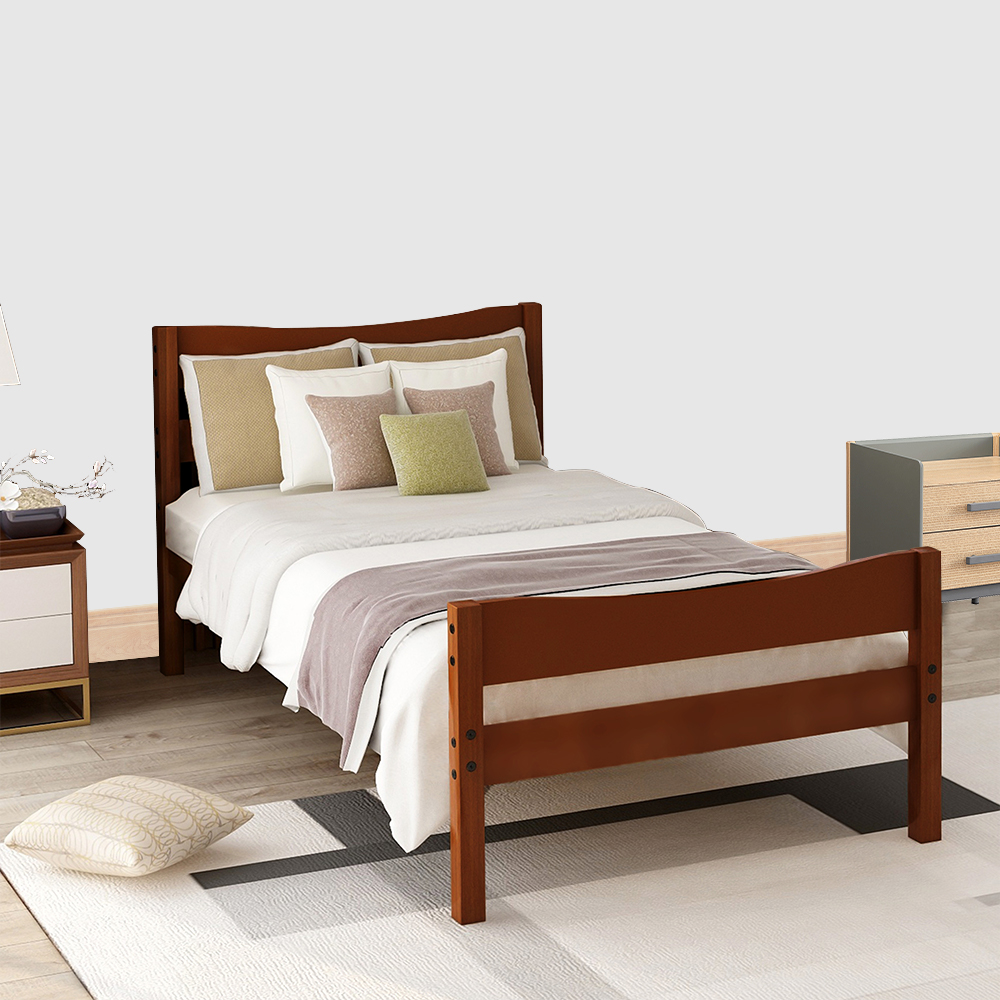 clearance twin platform bed frame wooden twin bed frame on walmart bedroom furniture clearance id=80846