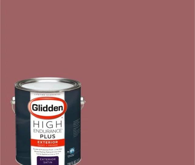 Glidden High Endurance Plus Exterior Paint And Primer Red Bluff 90rr 20 296 Walmart Com