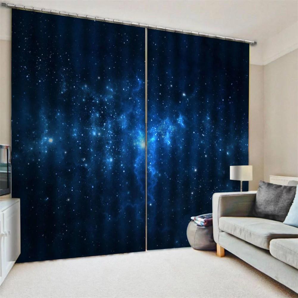 spptty bleu ciel etoile salon chambre fenetre occultant plein rideau d impression d ombre rideau de fenetre en polyester rideau d impression