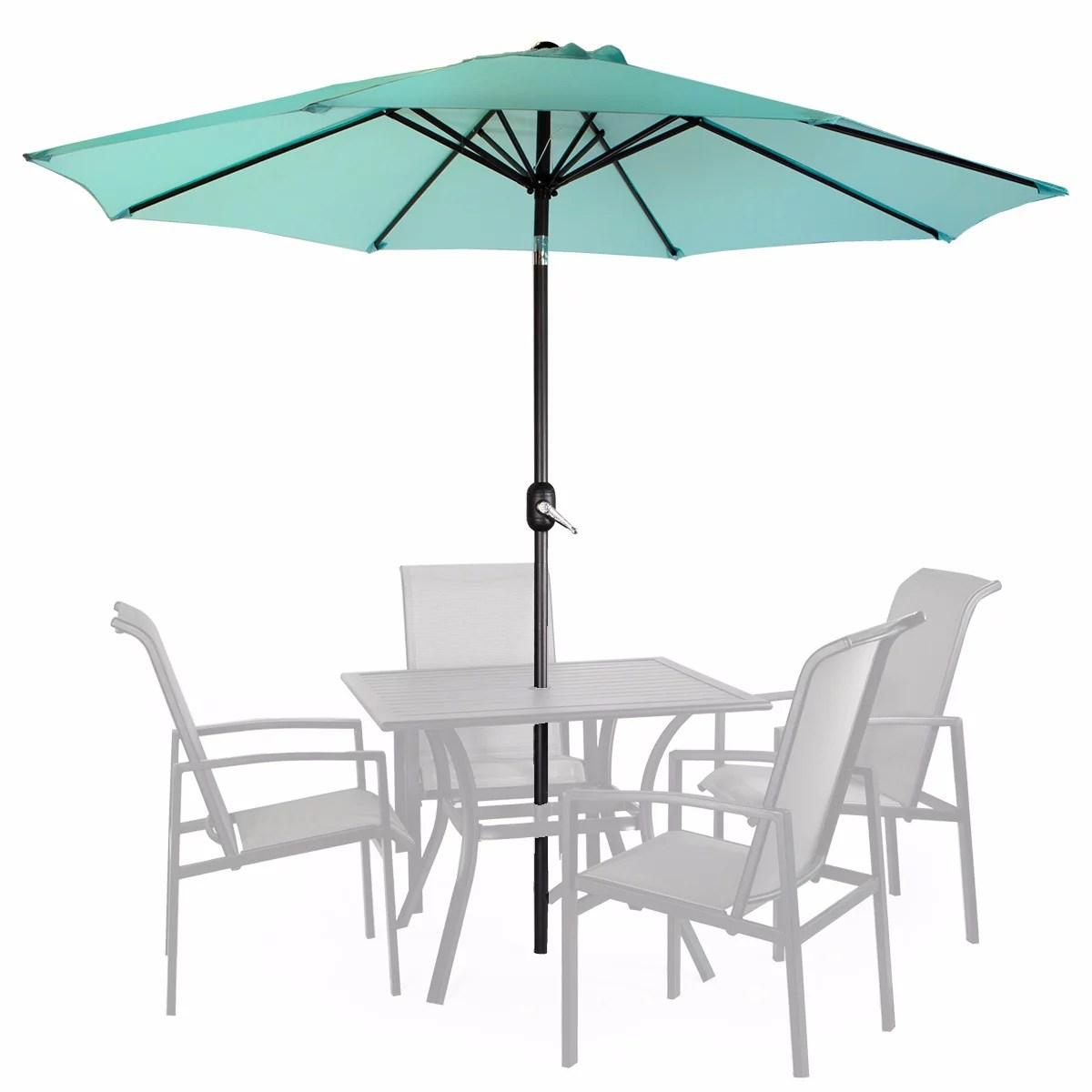 mainstays 9 outdoor market umbrella turquoise