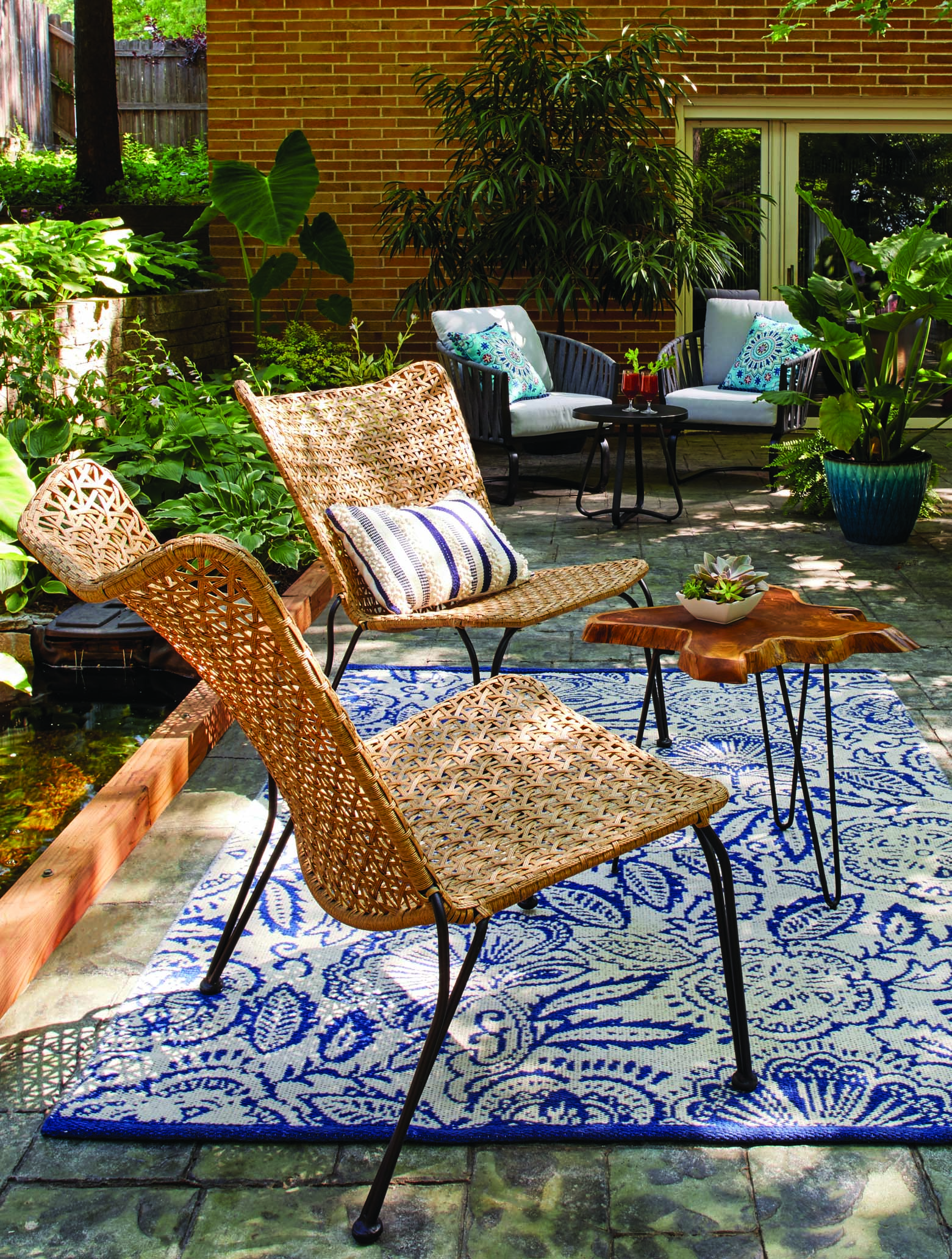 better homes gardens ambriz stacking wicker chair