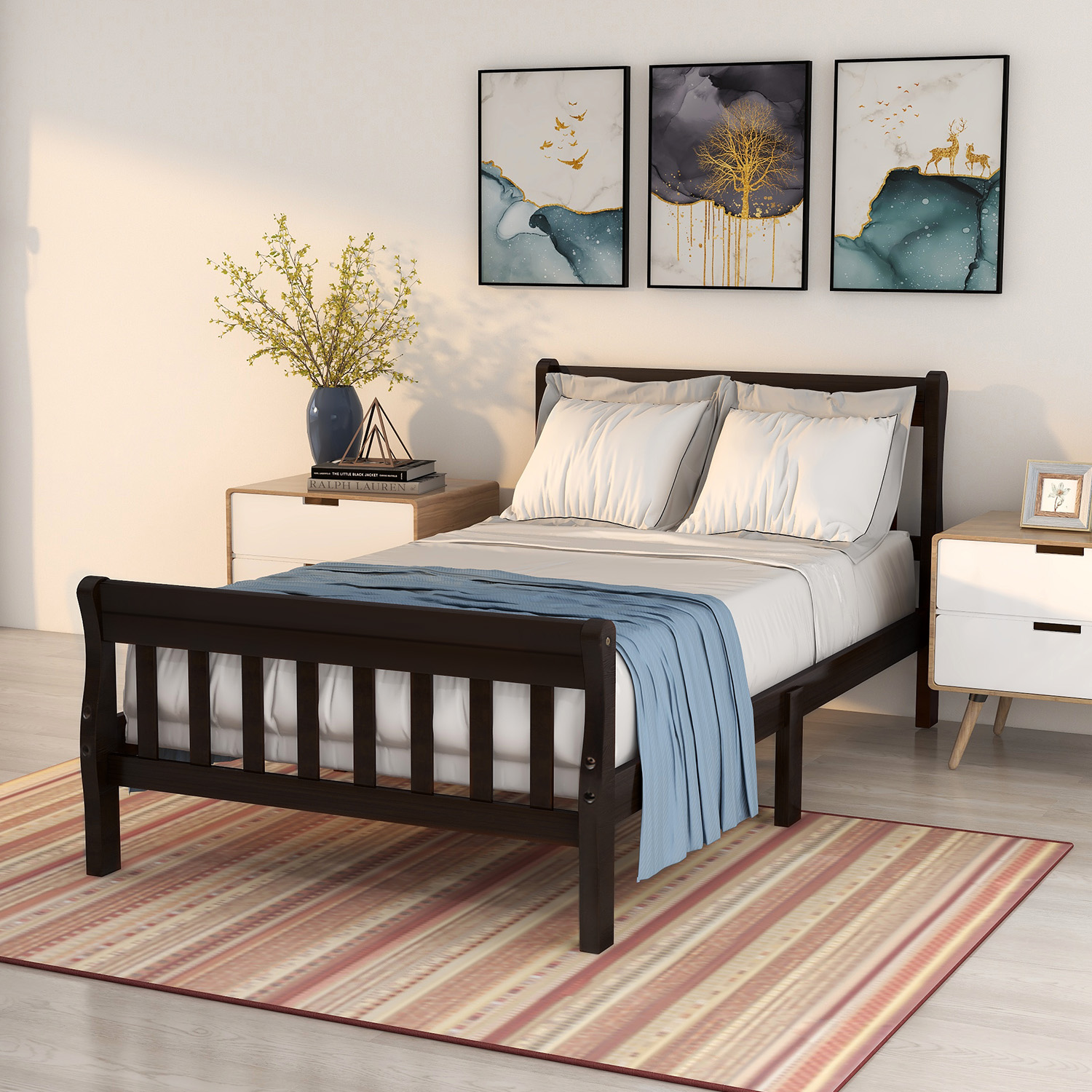 clearance twin platform bed frame wooden twin bed frame on walmart bedroom furniture clearance id=49057