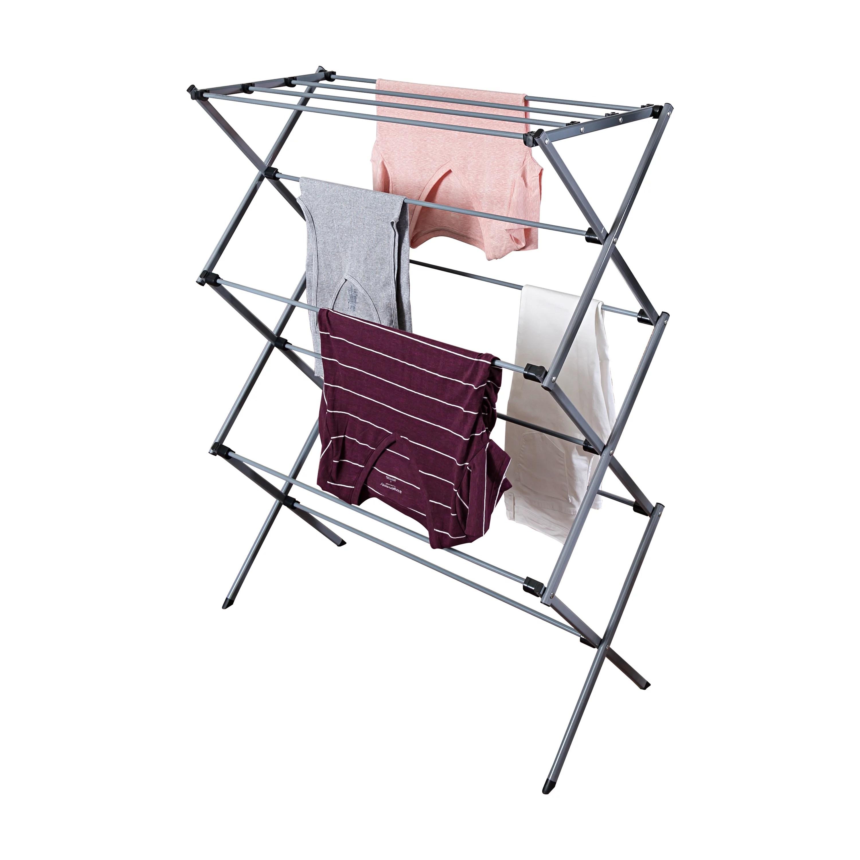 mainstays folding metal clothes drying rack silver walmart com